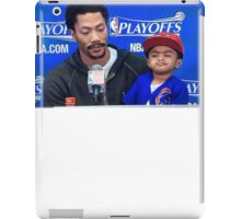 Derrick Rose and Son D Rose Jr Post game iPad Case/Skin