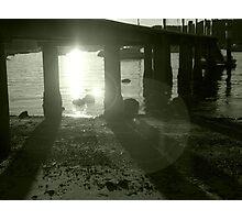 Sunset under Pier Photographic Print