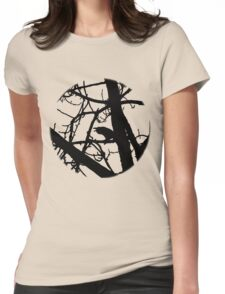 Shadow of the Raven (Black) Womens Fitted T-Shirt