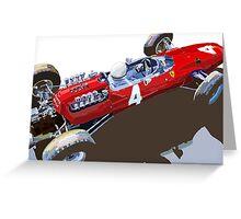 Ferrari 158 F1 1965 Dutch GP Lorenzo Bondini Greeting Card