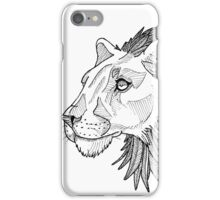 Feather maned lion iPhone Case/Skin