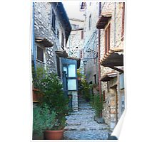 Fumone Alley in Italy Poster