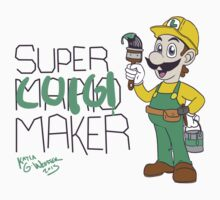 Super Luigi Maker Kids Tee
