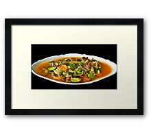 Diced Chicken with Vegetables Framed Print