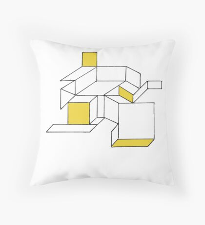 Abstract 1 - Cracked Shower Screen Throw Pillow