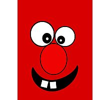 Funny Cartoon Face Kids T-Shirt and Sticker Photographic Print