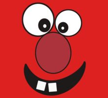 Funny Cartoon Face Kids T-Shirt and Sticker by deanworld