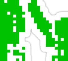 1 bit pixel pedestrians (green) Sticker