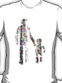 8 bit pixel pedestrians (color on white) T-Shirt