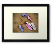Bare foot at the Beach Framed Print