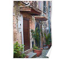 Fumone Front Doors  Italy Poster