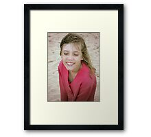 smiling Framed Print