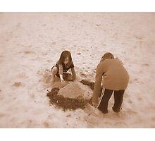 sandcastles Photographic Print