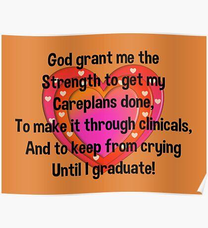 Nursing Student Serenity Prayer Poster