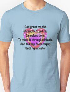 Nursing Student Serenity Prayer T-Shirt