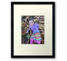 Zoe In The Autumn Framed Print