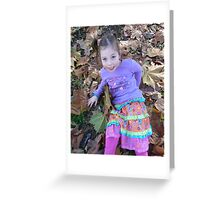 Zoe In The Autumn Greeting Card