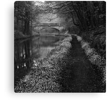 Union Canal - The Way To You (B&W Version) Canvas Print