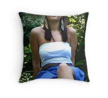 contempt with her thoughts  Throw Pillow
