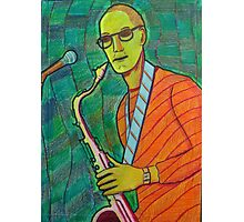 336 - THE SAX PLAYER - DAVE EDWARDS - COLOURED PENCILS - 2011 Photographic Print