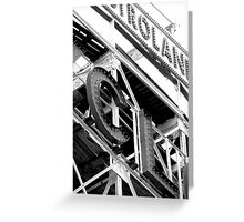 A ride on the Cyclone Greeting Card
