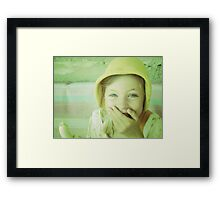who says fruit isn't funny? Framed Print