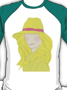 Girl In Hat With Purple Ribbon T-Shirt