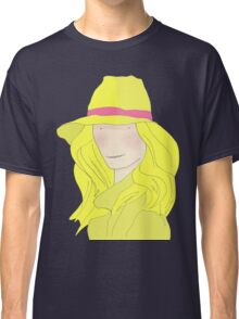 Girl In Hat With Purple Ribbon Classic T-Shirt