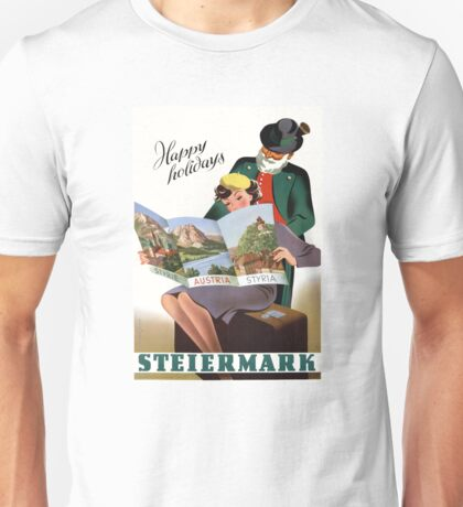 Steiermark Styria Vintage Travel Poster Restored Unisex T-Shirt