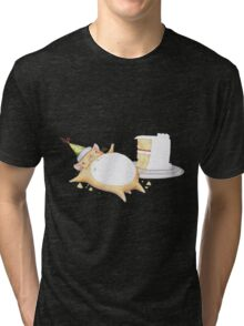 Greedy Hamster Tri-blend T-Shirt