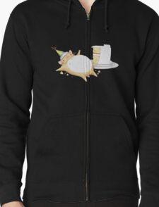 Greedy Hamster Zipped Hoodie