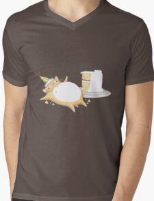 Greedy Hamster Mens V-Neck T-Shirt