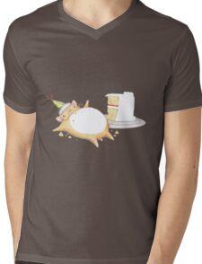Greedy Hamster Mens V-Neck T-Shirt