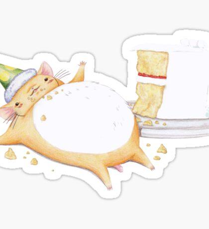 Greedy Hamster Sticker