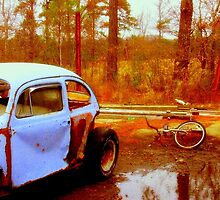 Forgotten Bug and Bike - Douglasville, Ga 2006 by Scott Mitchell