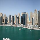 Dubai Marina Panorama by David Clarke