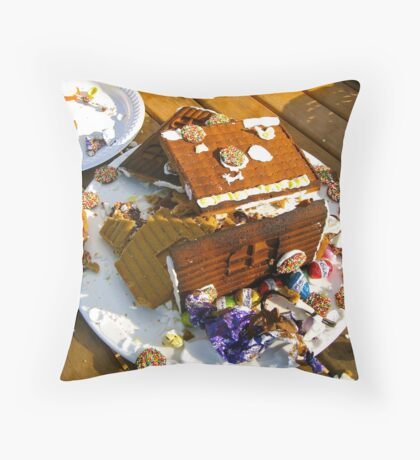 Easter Demolition Throw Pillow