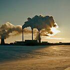 Industrial Sunset in Minsk, Belarus by Dmitry Shytsko