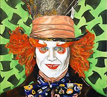 Johnny depp as The Mad Hatter by ManemannArt
