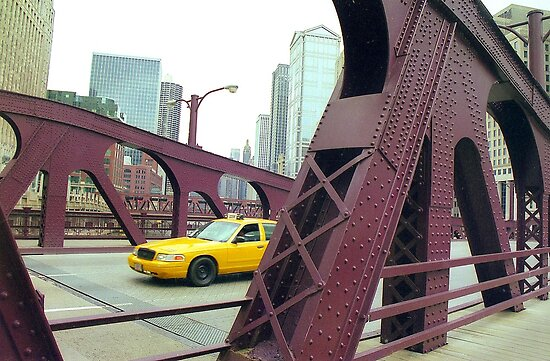 Chicago Taxi  by Alberto  DeJesus