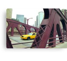 Chicago Taxi  Canvas Print