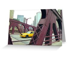 Chicago Taxi  Greeting Card