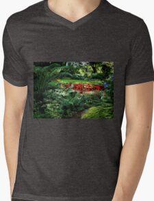 The Little Red Bridge Mens V-Neck T-Shirt