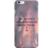 Tonight Alive Lyrics - Lonely Girl 2 iPhone Case/Skin