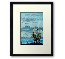 Colorful sheep painting - Out of the Stormy Sky Framed Print