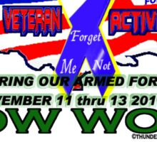5th Annual Honor Our Armed Forces POW WOW Sticker