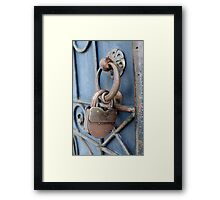 old padlock Framed Print