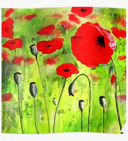 Amongst the Poppies Poster