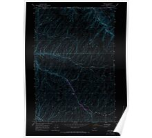 USGS Topo Map Oregon Ring 281272 1966 24000 Inverted Poster