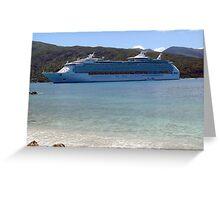 Mariner of the Seas in Labadee, Haiti Greeting Card